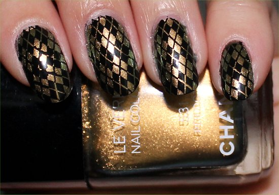 Chanel Peridot Nail Art Konadicure Stamping
