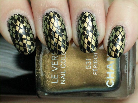 Chanel Peridot Swatches Argyle Konadicure Nail Art