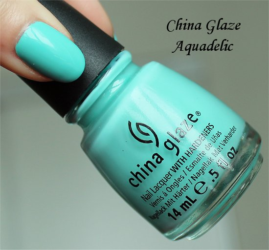 China Glaze Aquadelic Pictures, Review & Swatch