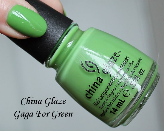 China Glaze Gaga For Green Review, Pictures & Swatch