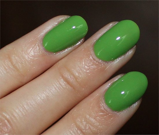 China Glaze Gaga For Green Swatch & Review