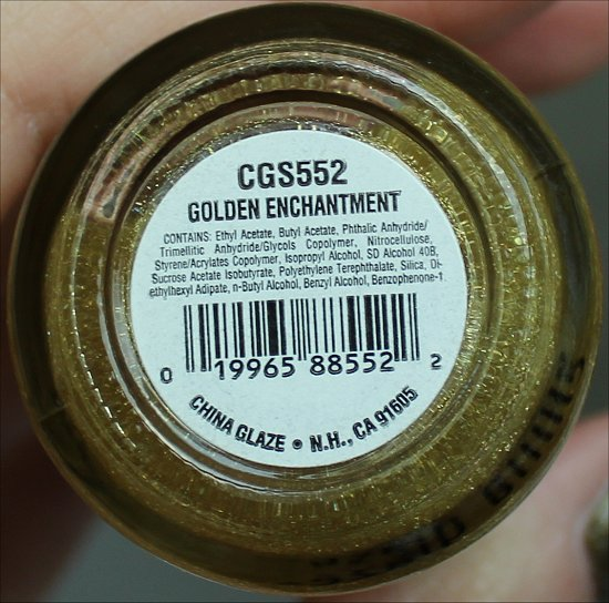 China Glaze Golden Enchantment Ingredients & Review