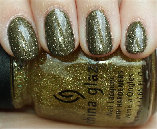 China Glaze Golden Enchantment Over Cult Nails In A Trance Swatches & Review