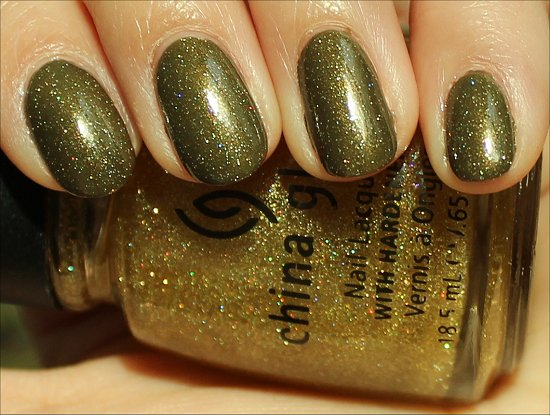 China Glaze Golden Enchantment Review, Swatch & Pics