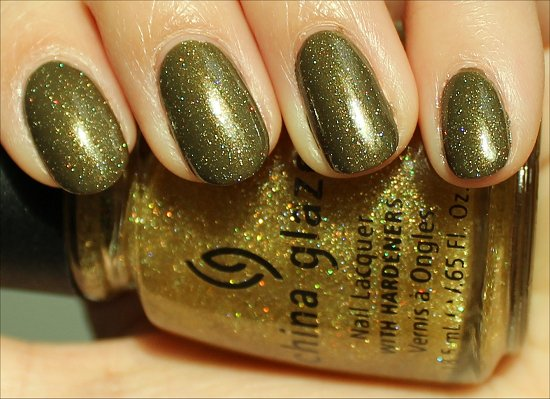 China Glaze Golden Enchantment Swatches & Review Cult Nails In A Trance Swatches & Review