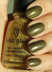 China Glaze Golden Enchantment Swatches & Review