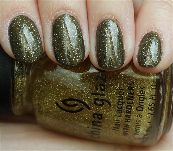 Cult Nails In A Trance with China Glaze Golden Enchantment Swatches & Review