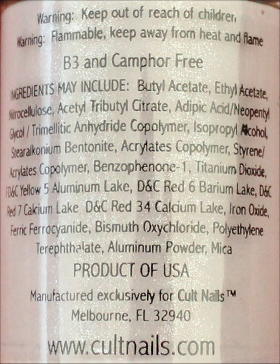 Cult Nails My Kind of Cool Aid Ingredients, Review & Pictures