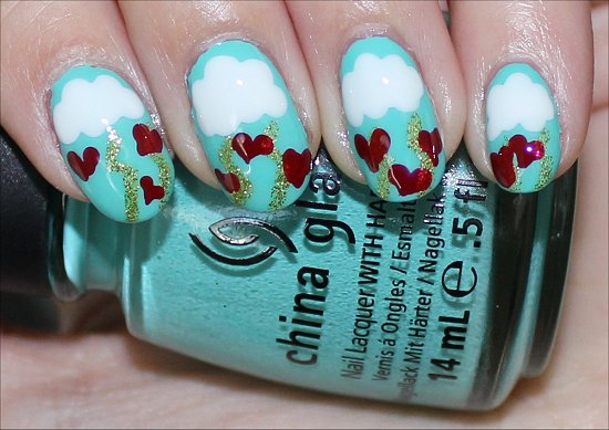 Easy Heart Nail Art Tutorial Valentine's Day Nails & Tutorial