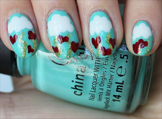 Easy Valentine's Day Nails Nail-Art Tutorial &amp; Pics