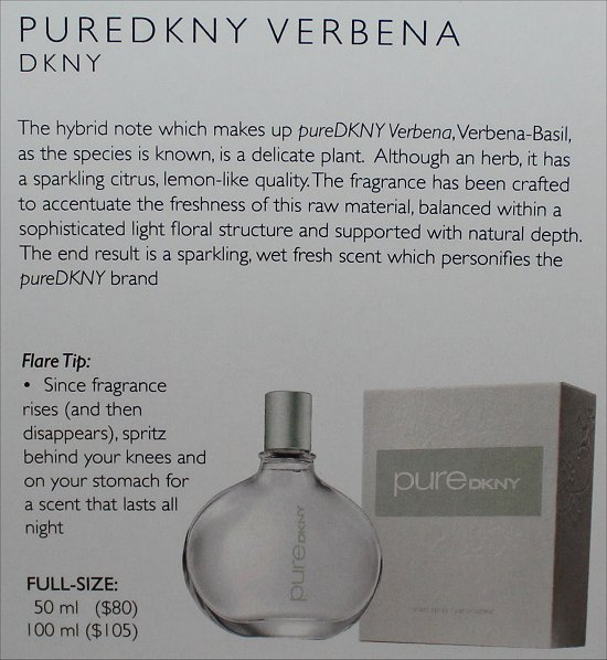 February 2012 Loose Button Luxe Box Review & Pictures DKNY PureDKNY Eau de Parfum