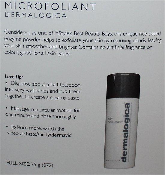 February 2012 Luxe Box Review & Pictures Dermalogica Microfoliant
