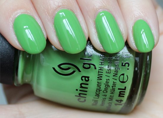Gaga For Green China Glaze ElectroPop Swatches & Review