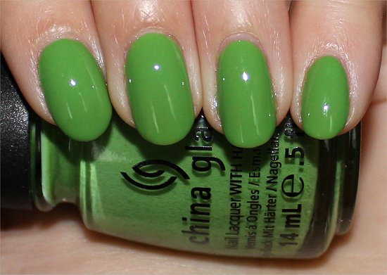 Gaga For Green by China Glaze Swatches & Review