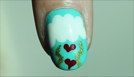 Heart Manicure Nail-Art Tutorial & Pics Valentine's Day Manicure