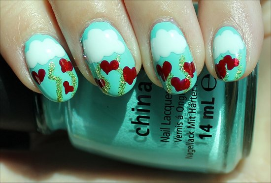Heart Nails Nail Art Tutorial Valentine's Day Manicure Nail Art Tutorial