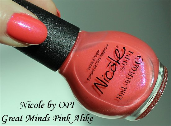 Nicole by OPI Great Minds Pink Alike Review, Pictures & Swatches