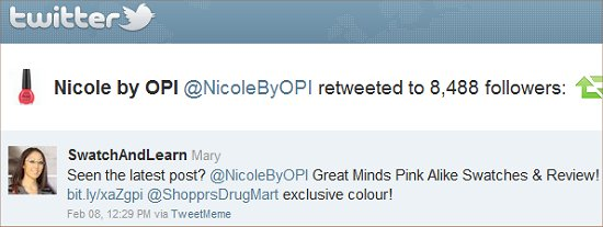 Nicole by OPI Great Minds Pink Alike Twitter Swatch And Learn