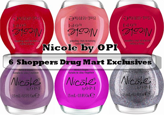 Nicole by OPI Shoppers Drug Mart Exclusives Press Release & Promo Pictures