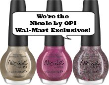 Nicole by OPI Walmart Exclusives Press Release & Promo Pictures
