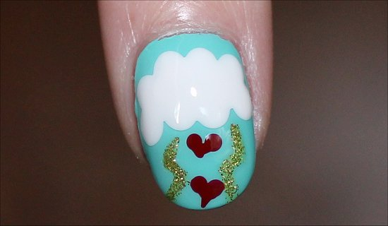 Stormy Heart Nails Nail Art Tutorial & Step by Step Instructions
