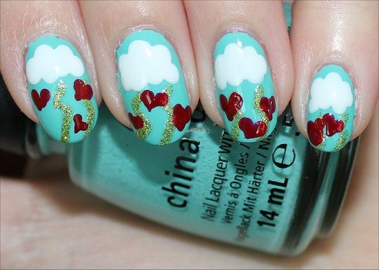 Valentines Day Nail Art Tutorial Step 5