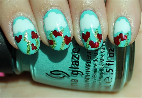 Valentine's Day Nails Nail-Art Tutorial Pictures & Swatches