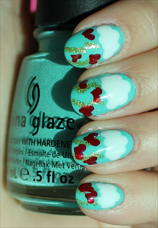 Valentine's Day Nails Nail Art Tutorial & Pictures