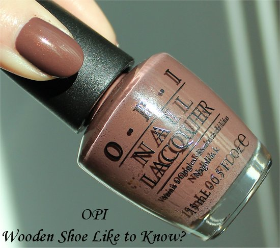 Wooden Shoe Like to Know OPI Holland Collection Review & Swatches