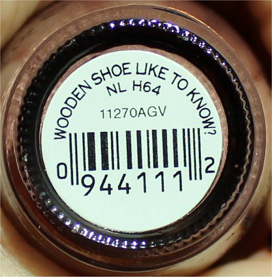 Wooden Shoe Like to Know OPI Holland Collection Swatches & Review