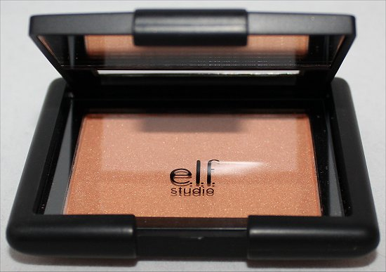 e.l.f. Studio Blush Giddy Gold Swatch, Review & Pictures