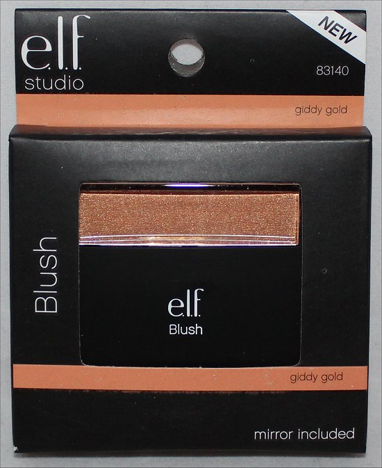 elf Cosmetics Studio Giddy Gold Blush Swatch, Review & Pictures