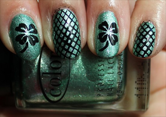 4 Leaf Clover Nail Art St. Patrick's Day Nails Shamrock Nails