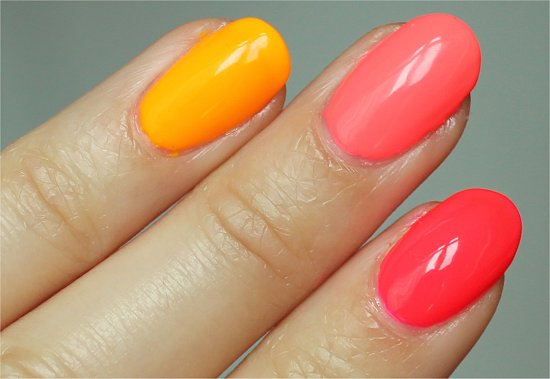 China Glaze Pool Party, Flip Flop Fantasy & Sun Worshipper Swatches & Review