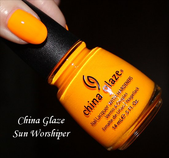 China Glaze Sun Worshiper Review, Swatches & Pictures