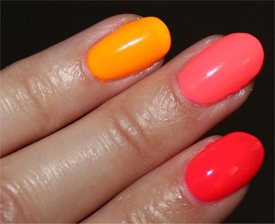China Glaze Sun Worshipper, Flip Flop Fantasy & Pool Party Swatch & Review