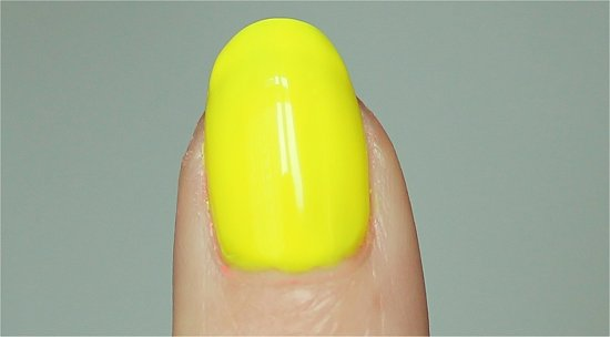 China Glaze Yellow Polka Dot Bikini Swatches & Review Neon Ombre Manicure