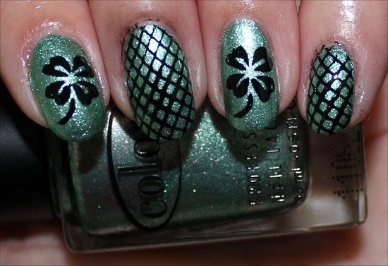 Easy St. Paddy's Day Nails Nail Art Shamrock Manicure Pictures