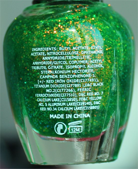 KleanColor Chunky Holo Clover Ingredients, Swatch & Review