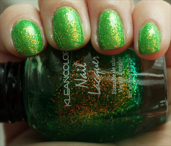 KleanColor Chunky Holo Clover Review, Swatches & Photos