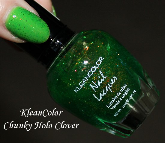 KleanColor Chunky Holo Clover Review, Swatches & Pics