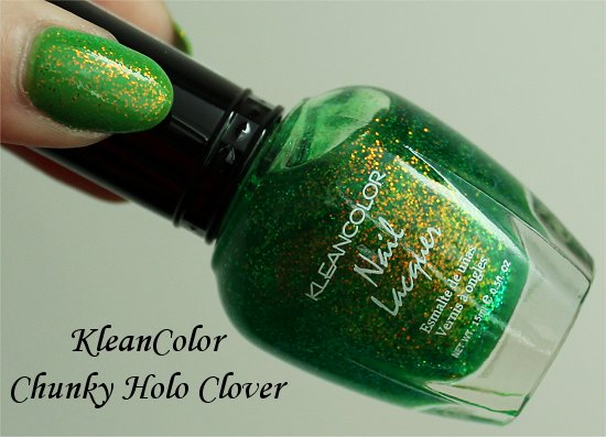 KleanColor Chunky Holo Clover Review & Swatches