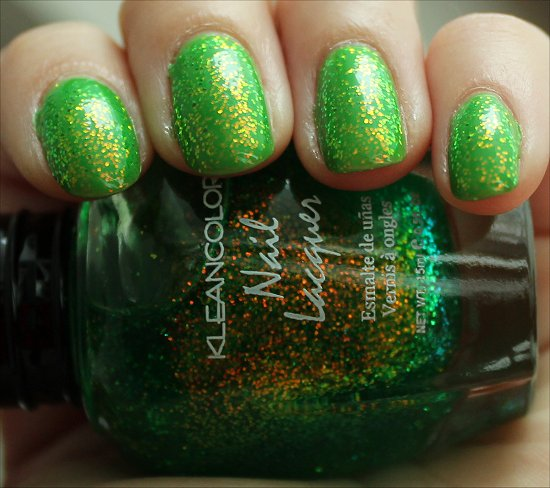 KleanColor Chunky Holo Clover Swatch, Review & Photos