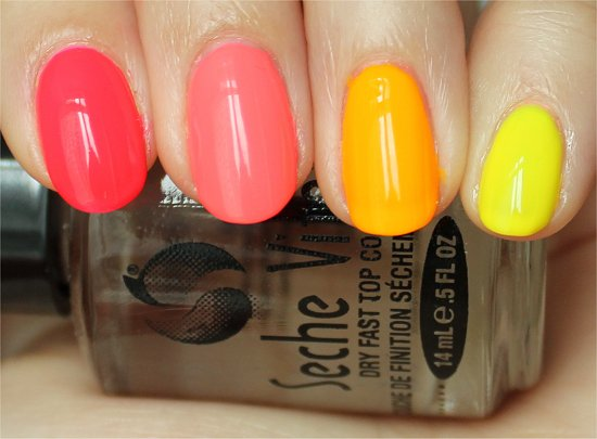 Neon Ombre China Glaze Poolside Collection Neon Nail Polish Swatches & Review