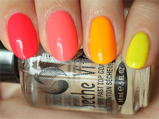 Neon Ombre Easy Summer Nail Art China Glaze Poolside Collection Swatches & Review