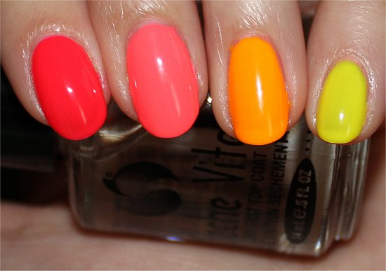 Neon Skittle Ombre Manicure Swatch
