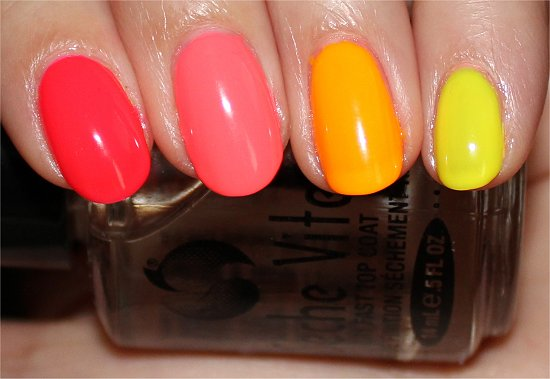 Neon Skittle Ombre Manicure Swatches