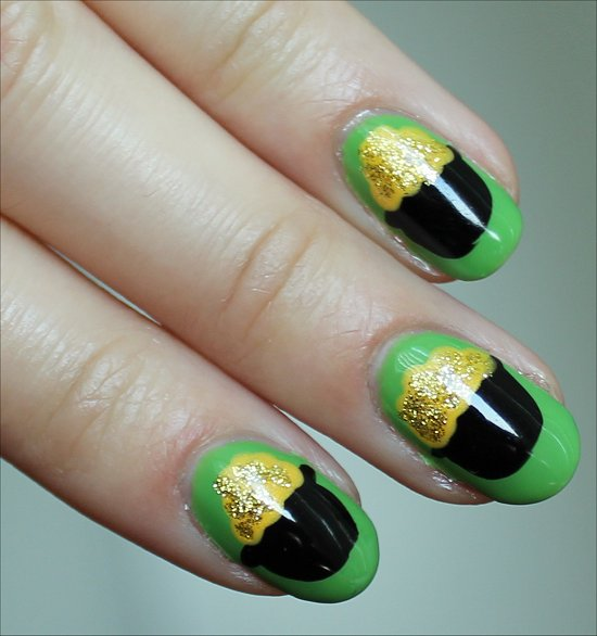 Pot of Gold Nail-Art Tutorial St Patricks Day Manicure