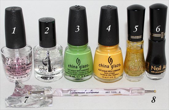 Pot of Gold Nails Nail Art Tutorial Supplies