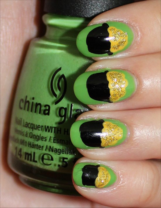 Pot of Gold Nails Nail Art Tutorial & Swatches